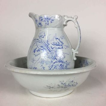 AJ Wilkinson England Ironstone Pitcher and Basin