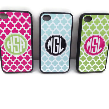 Personalized Monogrammed iPhone Cases for 4/4S and 5 - Gifts By Mad For Monograms