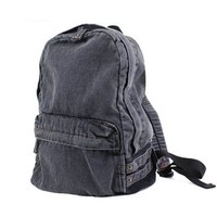 MOACC Unisex Causal Washed Jeans Denim Lightweight Travel Tote Backpack Daypack