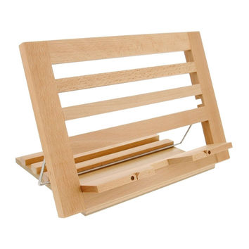 US Art Supply Extra-Large Wooden Bookrack Table Easel & Cookbook Holder