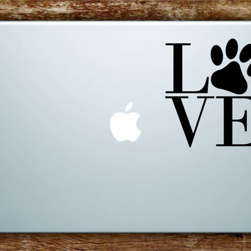 Love Dog Paw Print Laptop Decal Sticker Vinyl Art Quote Macbook Apple Decor Animal Rescue Puppy