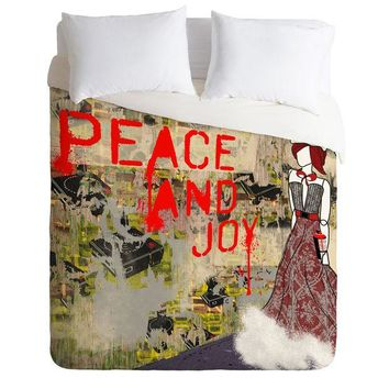 Holiday peace and joy Duvet Cover