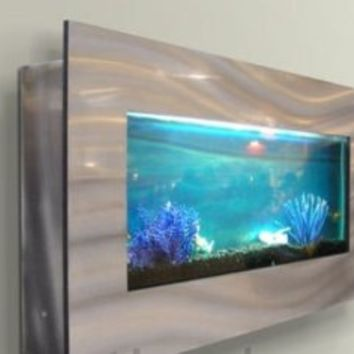 "Wall mounted aquarium 35""x17"" silver by Jersey Home Decor 50%off"