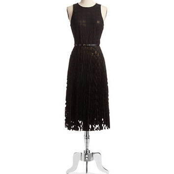 Donna Morgan Pleated Fit and Flare Dress
