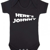 Here's Johnny Personalised Any Name Parody Baby Halloween Baby Onesuit Vest