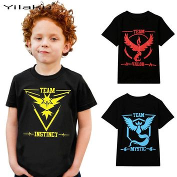 Yilaku  Children's T-shirts for Boys Girls Clothes Kids Casual Tee Shirts & Tops Boy  Clothing 3~7 Years CG121Kawaii Pokemon go  AT_89_9