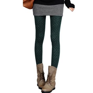New Women Tights Dot Velvet Hosiery Cashmere Collants Femme Standard Stockings Knitted Spring Winter Pantyhose Woman