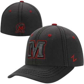 Zephyr Maryland Terrapins Smoke Fitted Hat - Charcoal