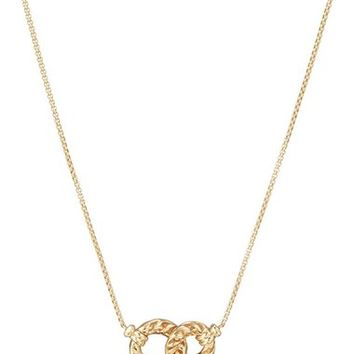 David Yurman Belmont Extra-Small Double Curb Link Necklace with Diamonds in 18K Gold | Nordstrom