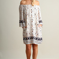 Casual Get Together Dress - Black and Cream