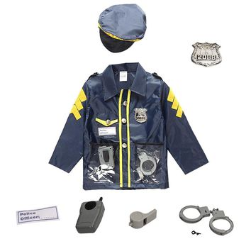 Chlidren's Policeman Cosplay Costume Policeman Costume With Durable Case Police Officer Costume for Kids
