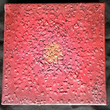 Abstract Art - Acrylic Abstract Painting - Peaceful Painting - Red Painting - Textured Painting - Mixed Media - Root Chakra Inspired