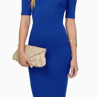 Off The Shoulder Solid Color Short Sleeve Dress