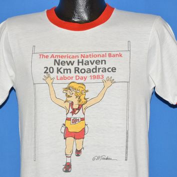 80s New Haven Road Race Doonesbury 1983 t-shirt Small