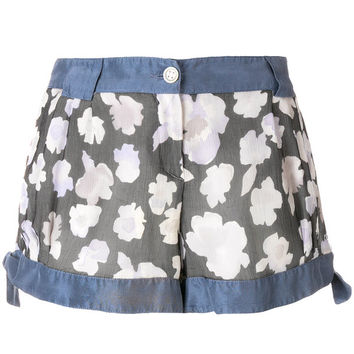 Giorgio Armani Vintage Side Ties Floral Shorts - Farfetch