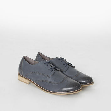 Fifthrow Woman Milan Royal Blue, leather, brogue