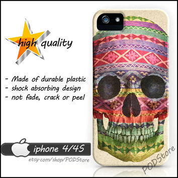 Color Skull iphone 4 case Day Of The Dead skeleton Skull iphone4 casing Fancy