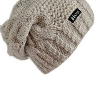 Frost Hats Winter Hat for Women BEIGE Slouchy Beanie Hat Knitted Winter Hat Frost Hats Beige