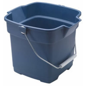 Rubbermaid 1793555 Roughneck Rectangle Bucket, 14-Quart, Blue
