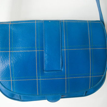 Vintage 70s Barbara Bolan For Bolan Too Blue Bag Hipster Schoolbag Shoulder Purse