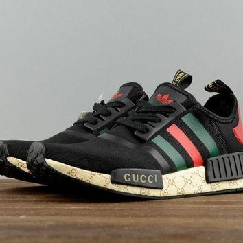 DCCKIJG GUCCI Adidas NMD Fashion Women/Men Casual Running Sport Shoes (Limited edition) H Z