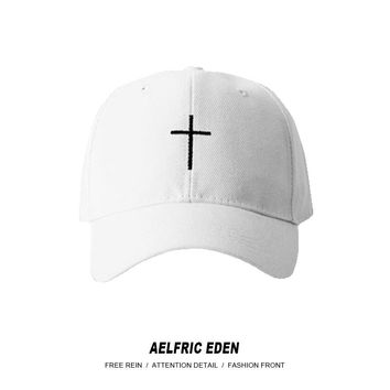 Aelfric Eden Hi-street Retro BF Style Adjustable Baseball Cap Classic Cross Assassins Creed Dress Up Hats Skateboard Couple Caps