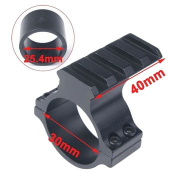 Riflescope Mount Tube Barrel 25.4mm / 30mm / 35mm Scope Ring Adapter 20mm Weaver Picatinny Rail with 1'' mount Insert