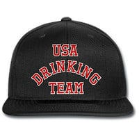 usa drinking team snapback hat let's party knit hat beanie snapback  drink beer