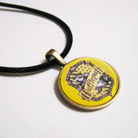 Hufflepuff Crest Harry Potter Bronze Metal Necklace by Kawaiistarz