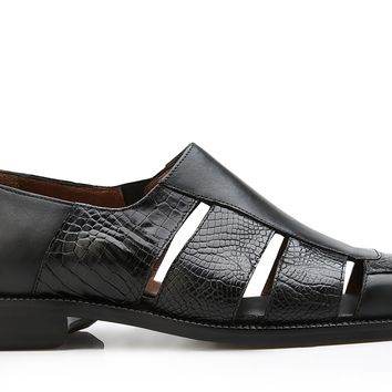 "Belvedere ""Land"" Alligator And Italian Calf Slip On"