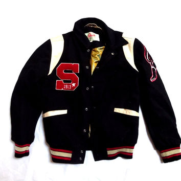 New Schott nyc Varsity Wool And Leather Jacket New w/tags!
