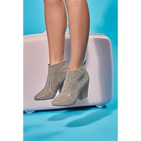 Strut Your Stuff Studded Booties (Taupe)