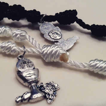 First Communion Cord-Knot Rosary