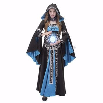Custom Made Medieval Renaissance Hooded Dress Ball Gown Cosplay