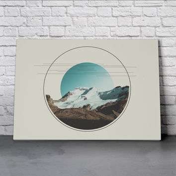 Canvas Wall Art Print - Mountain Circle by Leftfield_Corn