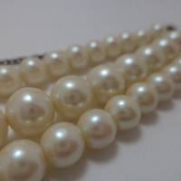 Beautiful, Pearl, Three Strand, Choker, Vintage, Glass Bead, Pin Up Girl, Retro, Necklace