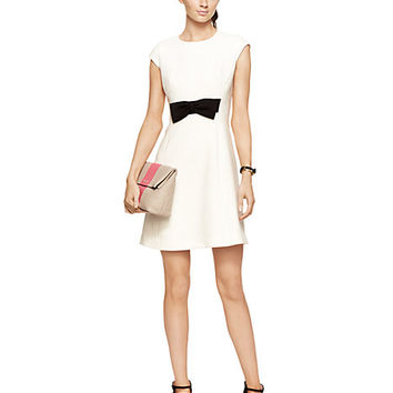Kate Spade Stretch Crepe Bow Dress Cream