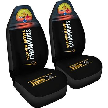 Pittsburgh Steelers Car Seat Covers 2pcs | Super Bowl Champs Seat Covers