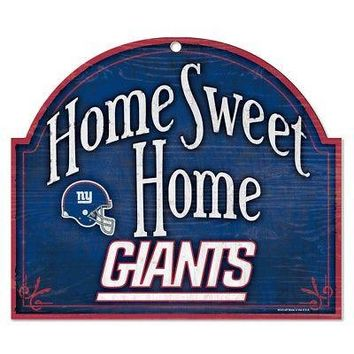 """NEW YORK GIANTS HOME SWEET HOME ARCHED WOOD SIGN 10""""x11"""" BRAND NEW WINCRAFT"""