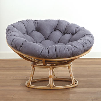 charcoal microsuede papasan cushions from cost plus world market. Black Bedroom Furniture Sets. Home Design Ideas