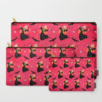 Unicorn Vampire Pattern Carry-All Pouch by That's So Unicorny