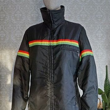 Vintage 1980s Sporty + Retro Ski Jacket