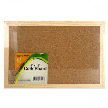 VOND4H Wood Framed Cork Board