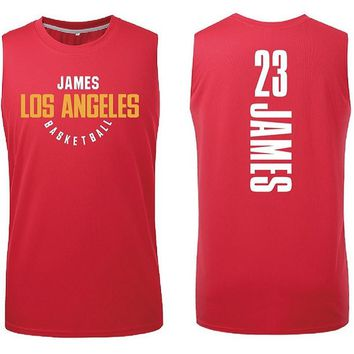 Top Quality 23 Lebron James Lakers Basketball Jersey Uniforms Sports Basketball T Shirt Breathable Training Shirts Red