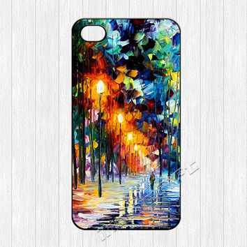 Painting iPhone 4 Case,water color paint winter tree Image printing iPhone 4 4g 4s Hard Case,watercolor cover skin for iphone 4/4g/4s cases