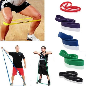New Resistance Bands Weight Training Fitness Exercise Loop Crossfit Strength = 1933307460