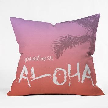 Deb Haugen Aloha Throw Pillow