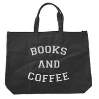 Books and Coffee Tote bags. Black or Natural color BE009