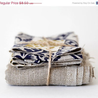 Scrap fabric - linen grey scraps pack 10oz