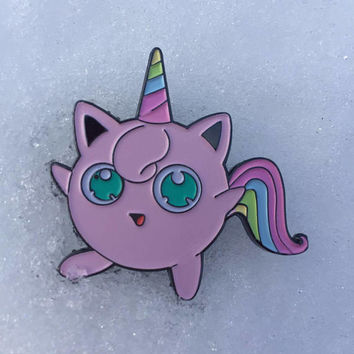 JIGGLYPUFF Unicorn Pokemon - limited edition enamel pin